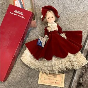 Brinns collectable porcelain doll 1990 effanbee